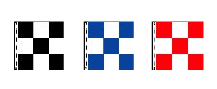 Checkered Flags: Nylon 3' x 3' Square Nylon Checkered Flag