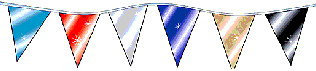 Metallic Pennant String 60' long