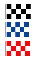 Checkered Flags: Nylon 3' x 5' Horizontal Checkered Flag