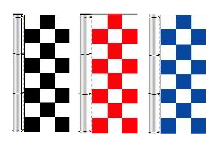 Checkered Flags: Polyester 3' x 8' Vertical Checkered Flag