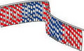 Metallic Diamond Leaf Pennant String 60' long
